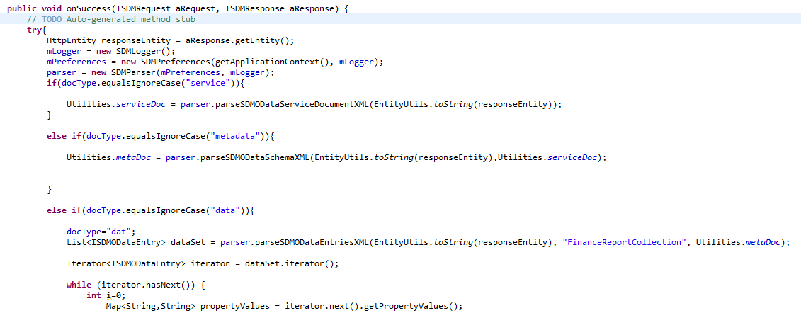 Android OData REST SDK RequestHandler Success.PNG