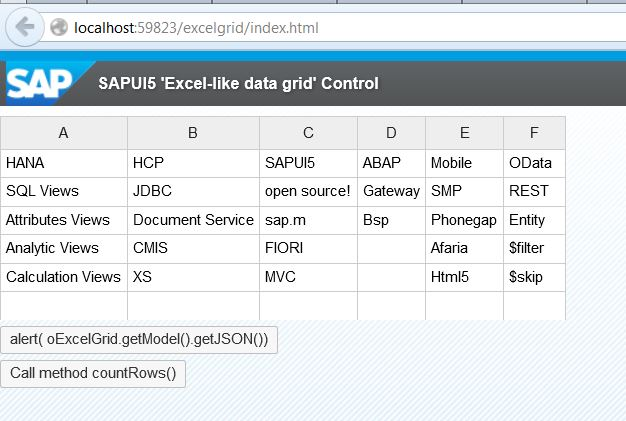 Excel -like custom grid control in SAPUI5 #OpenUI5 | SAP Blogs
