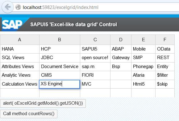 Excel -like custom grid control in SAPUI5 #OpenUI5 | SAP Blogs