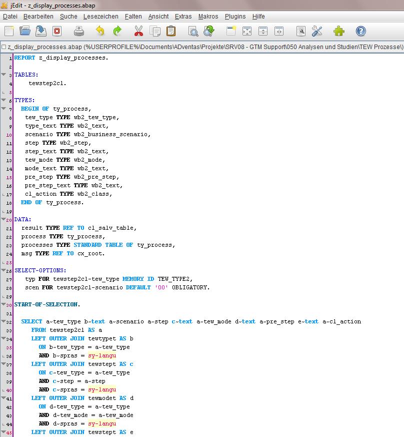 ABAP in jEdit – Offline ABAP Editor | SAP Blogs