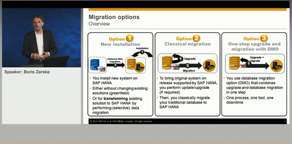 Overview of SAP HANA Migration Options