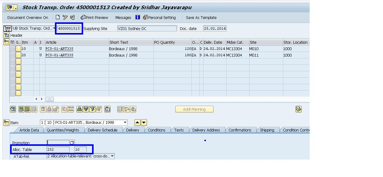 Overview On Allocation Table Process Sap Blogs