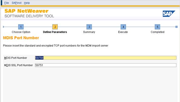Installation of SAP MDM system (Master Data Management