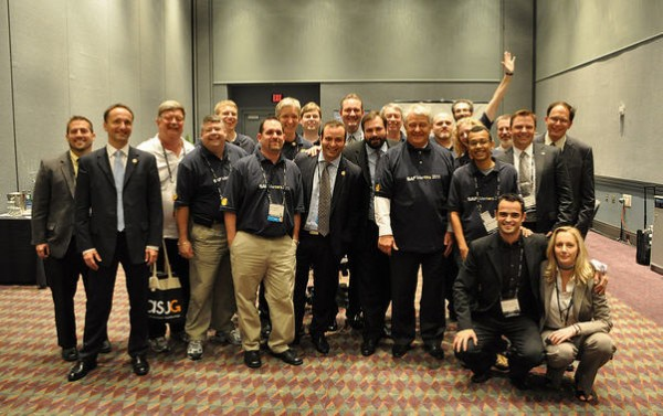 hasso with SAP Mentors sapphire 2012.jpg