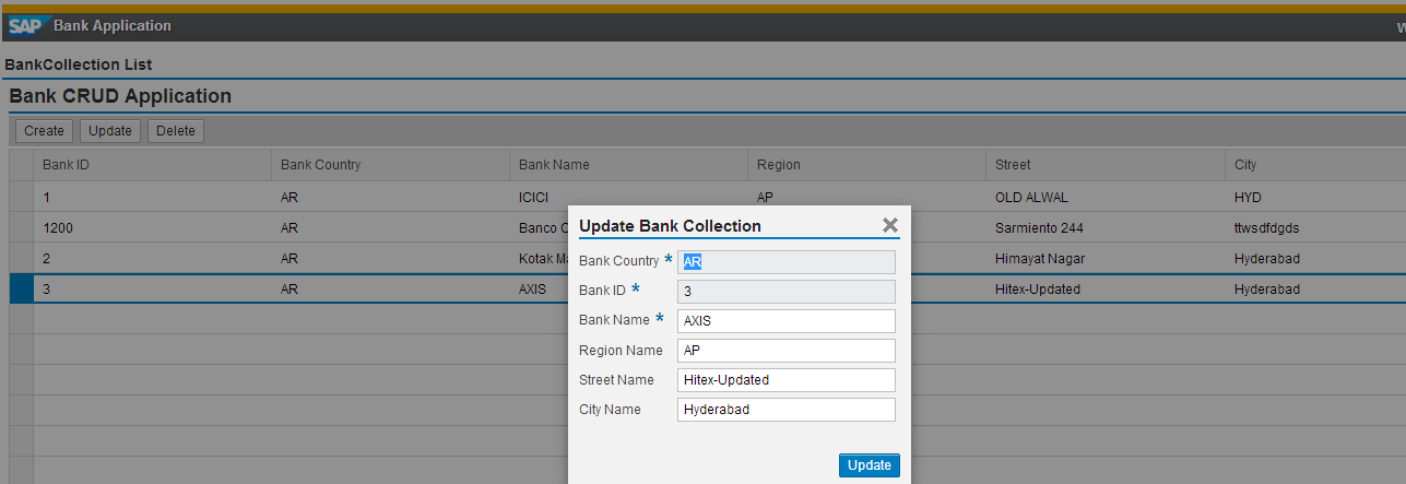 Building a CRUD Application with SAPUI5 Using Odata Model