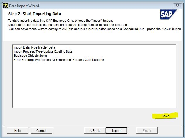 how to configure a scheduled data import with dtw data transfer