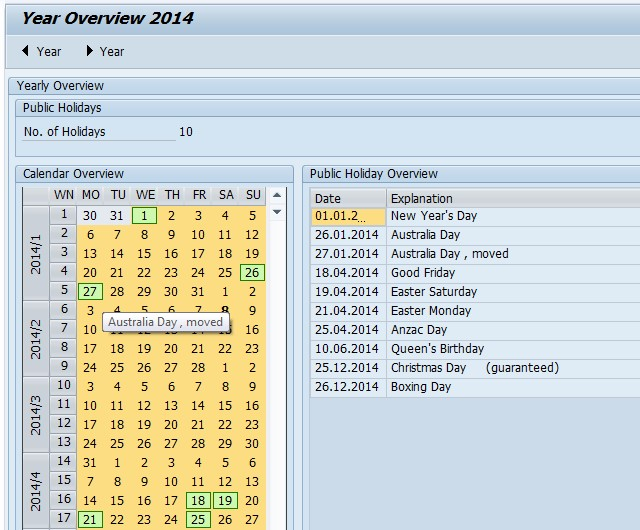 Public Holiday Calendar And Work Schedule Rules Sap Blogs