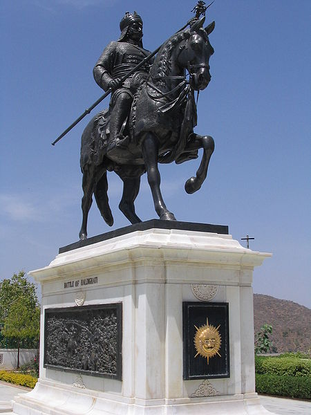 450px-Statue_of_Maharana_Pratap_of_Mewar,_commemorating_the_Battle_of_Haldighati,_City_Palace,_Udaipur.jpg
