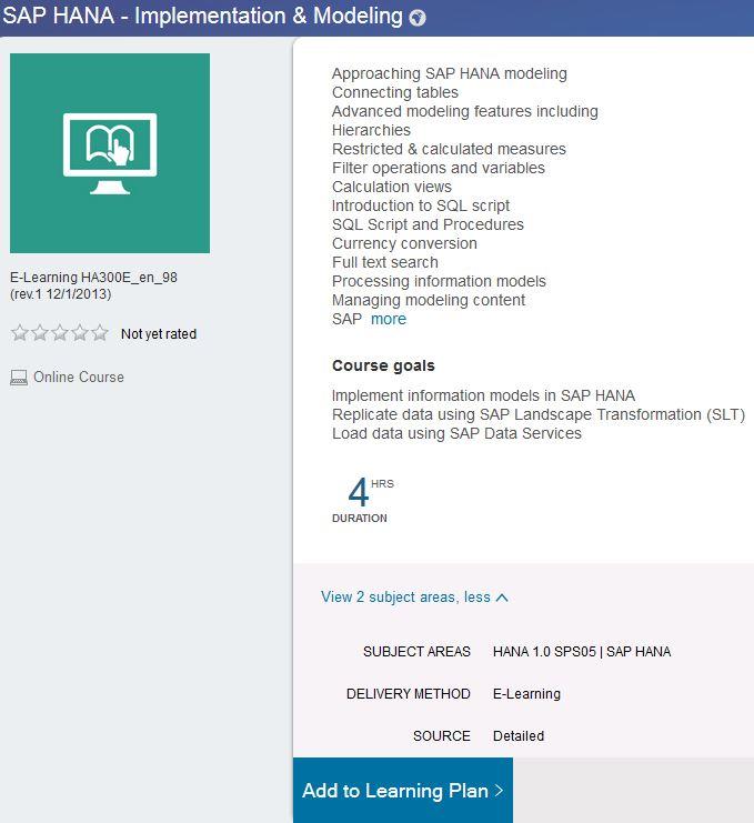 Sap Learning Hub Ebook