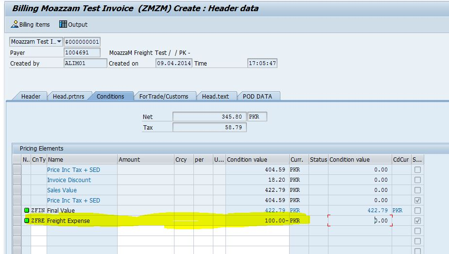 Posted Invoice To FI With VF02 And In Accounting Document You Can View That  Freight Expense Is With Debit Entry And Freight Accrual Is With Credit.  Transportation Invoice