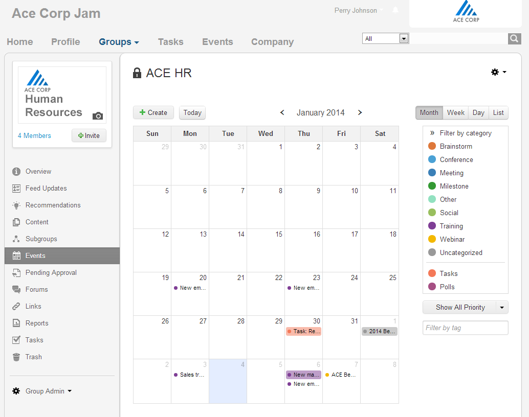 Events03, Calendar month view with filtering pane open.png