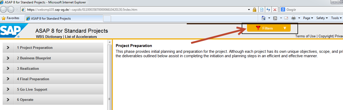 Solution manager for asap projects sap blogs to do this you may go into the roadmap and then select filters malvernweather Image collections
