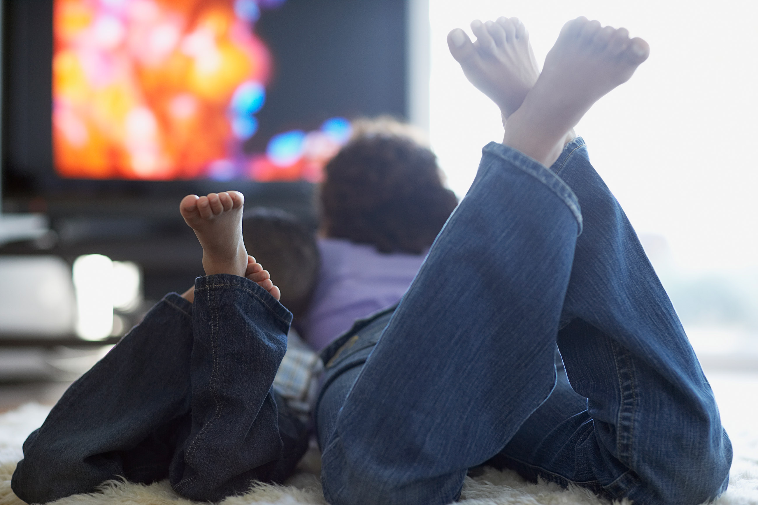 Two Children Viewing TV.jpg