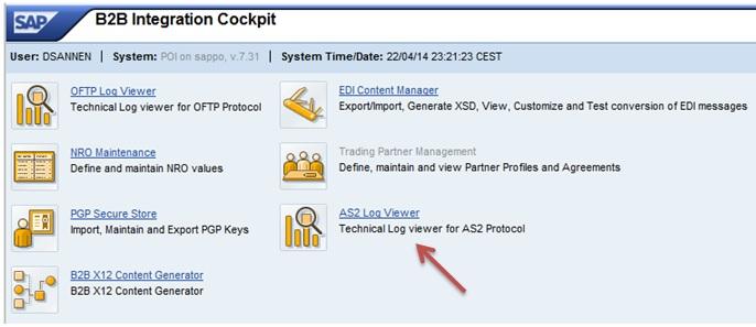 B2B Add-on SP3: AS2 Log Viewer | SAP Blogs