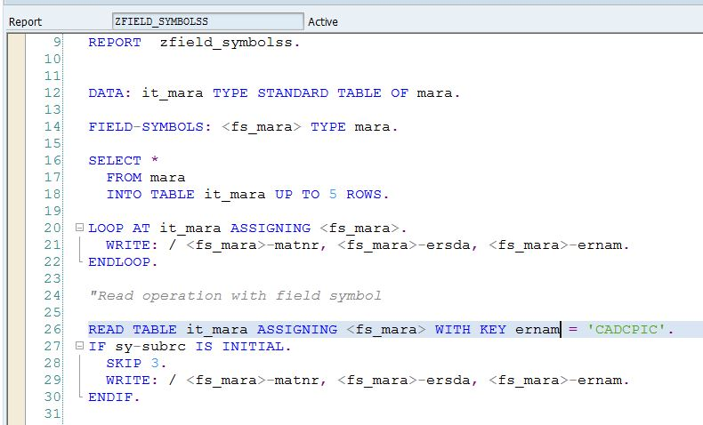 Relation Between Data References And Field Symbols With Examples
