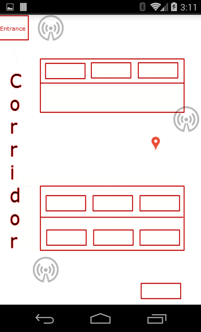 Trilateration in practice: testing indoor positioning with