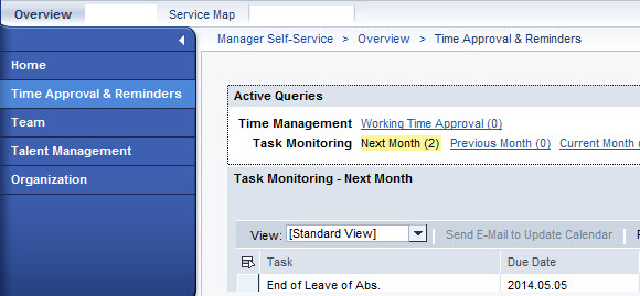 MSS Task Monitoring Reminder: Meeting invite does not update
