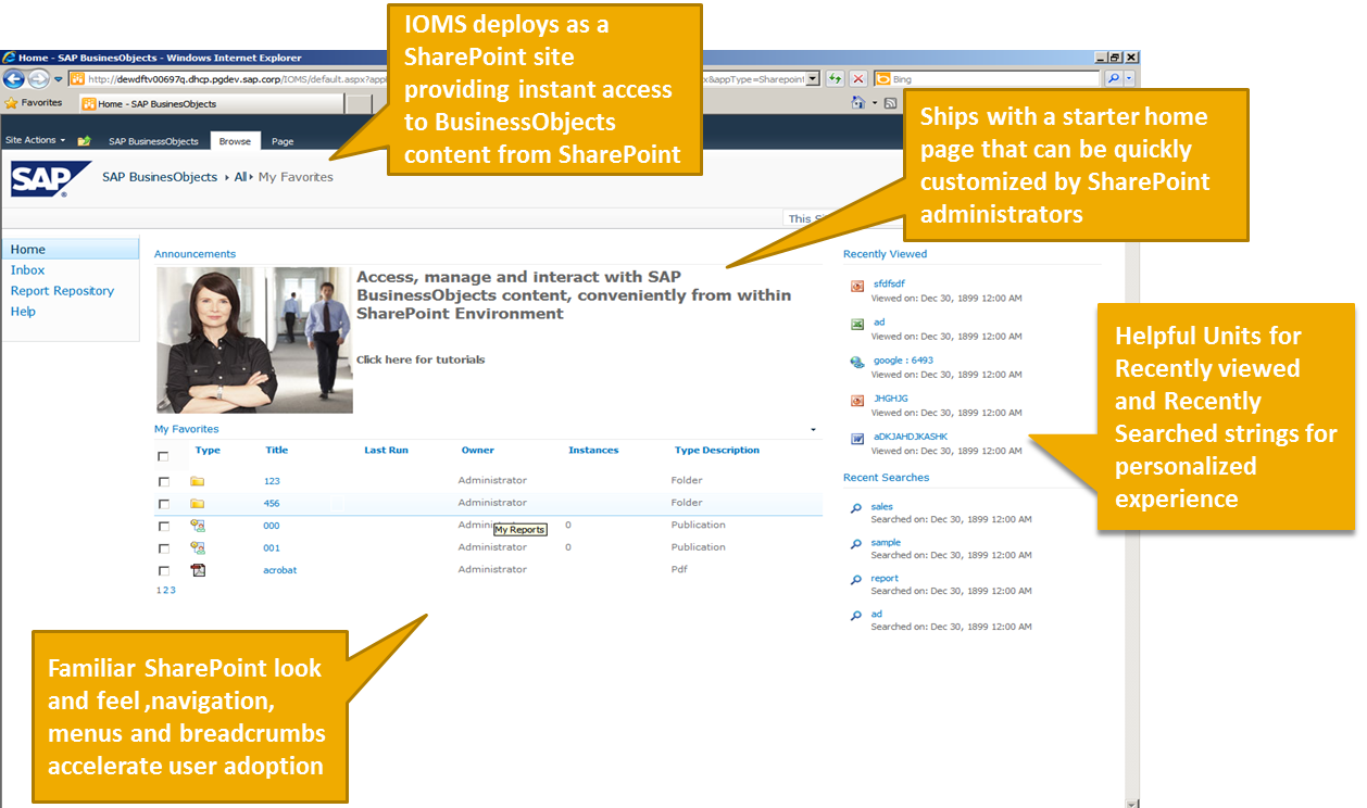 Overview Of Sap Bi 4 X Integration Option For Microsoft Sharepoint