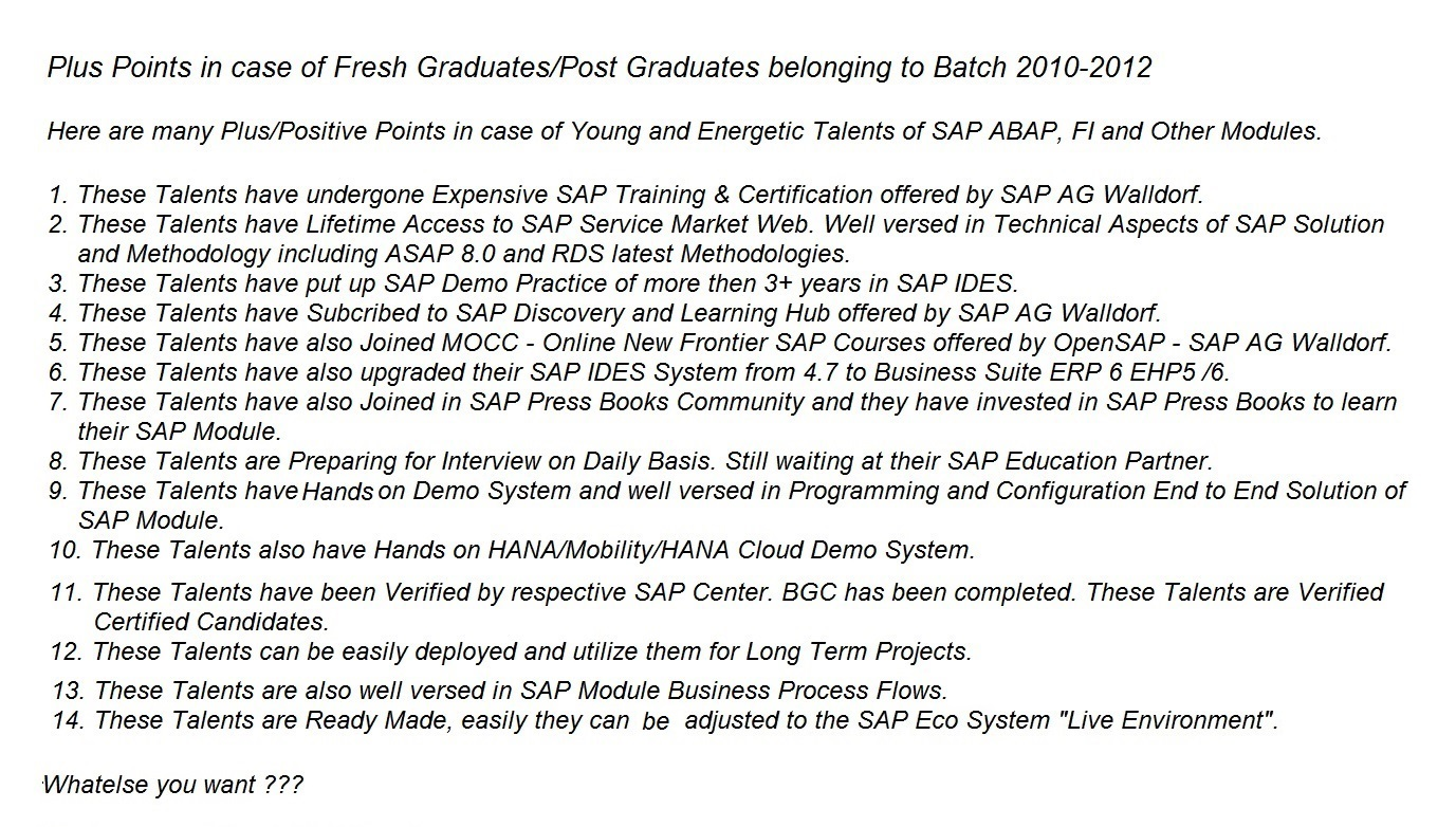 Major Plus Points in Fresh Talents Graduates and Post Graduates.jpg