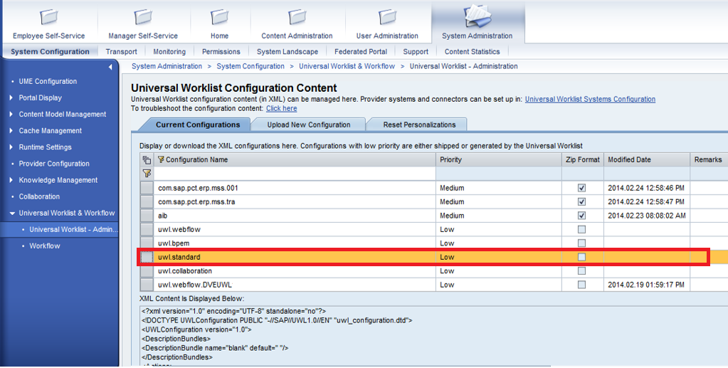 hide tabs in uwl and sorting task workitems by send date as default