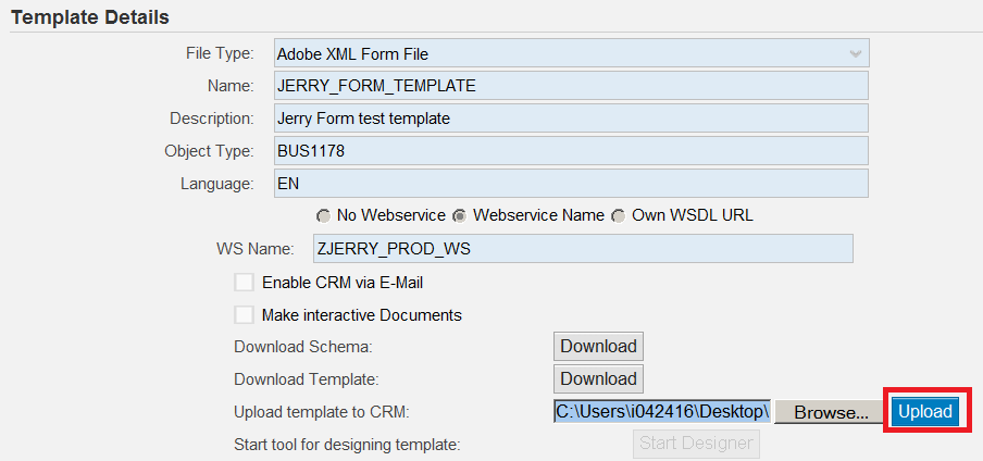 create webservice enabled adobe pdf attachment in crm application