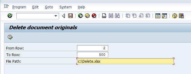Mass Delete Originals in DMS | SAP Blogs