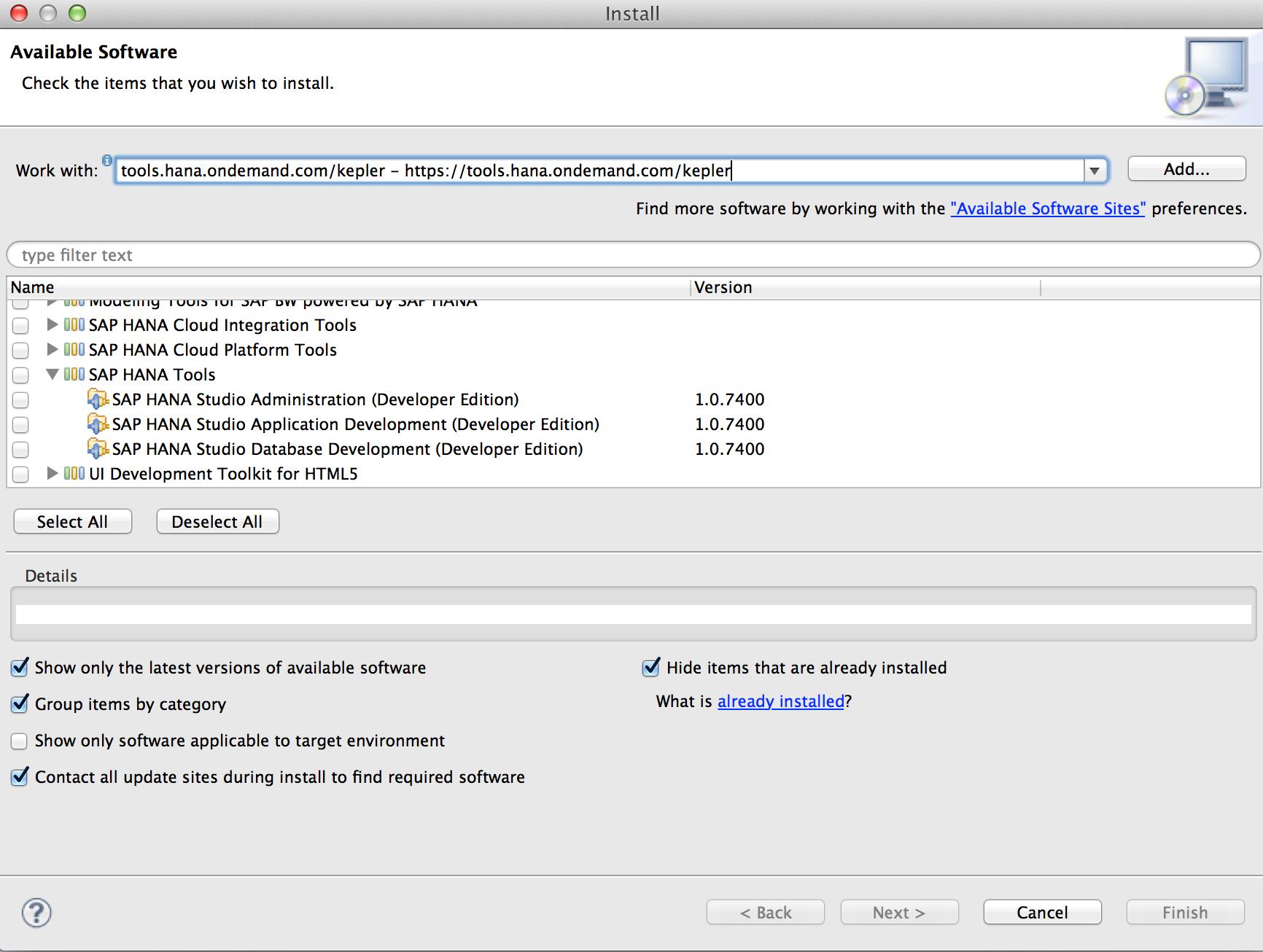 How to install SAP HANA studio on Mac OS? | SAP Blogs