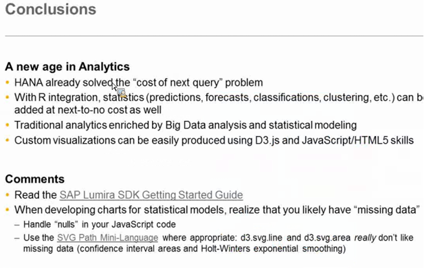 Big Data Visualizations and Lumira Webcast | SAP Blogs