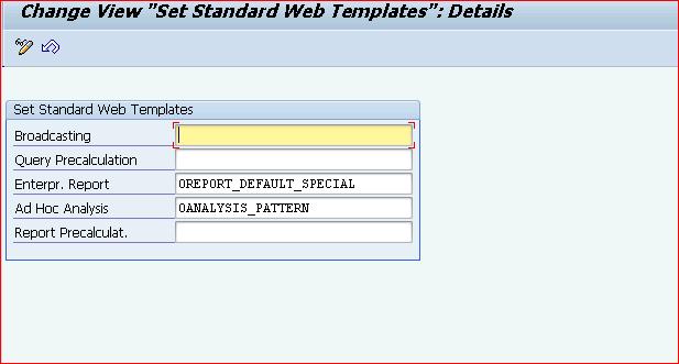 Bex Web Application Designer Configuration