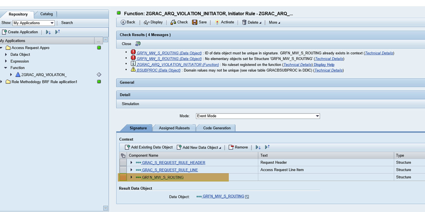 AC10 0/10 1: Create Rule Based on Risk Violation in Request, Using
