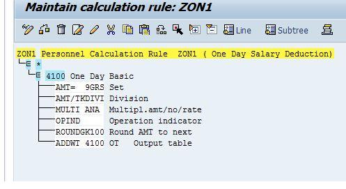 salary deduction calculation