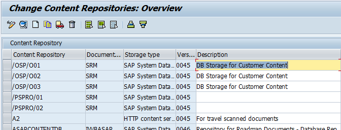 how to create content repository in sap