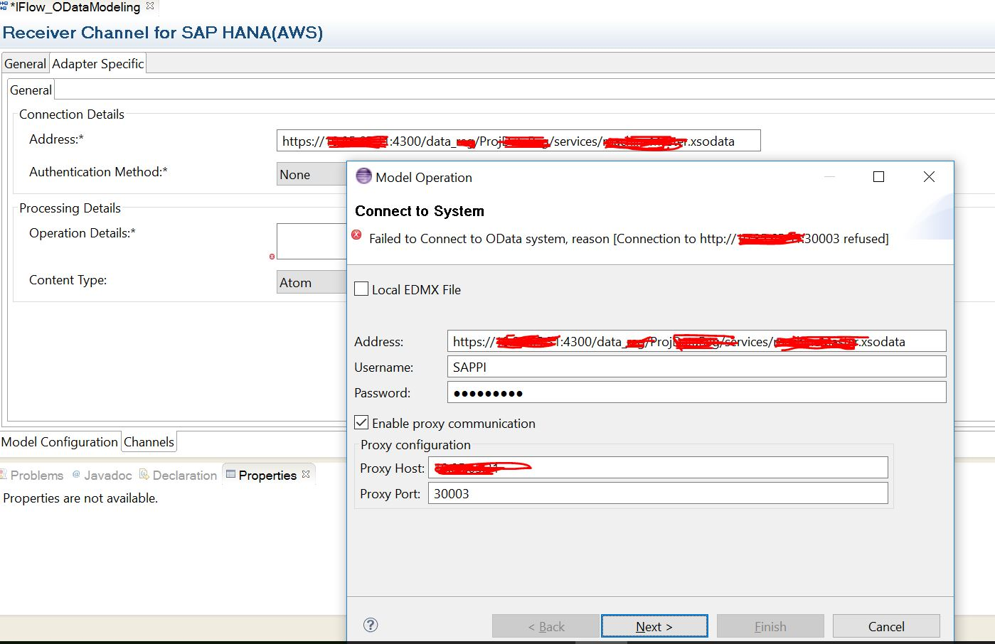 Pisfsf integrationc how to model successfactors soap and if i select enable proxy communication while connecting to odata service it is giving a different error now as failed to connect to odata system 1betcityfo Gallery