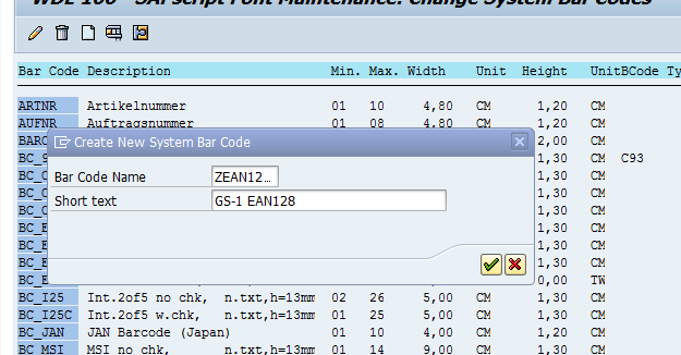GS-1 / EAN 128 barcode in Smartforms | SAP Blogs