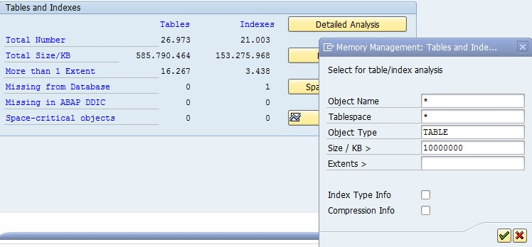 Easy way to check the biggest tables in SAP | SAP Blogs