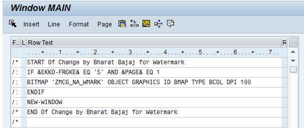 How to Add Watermark on each page of SAP Script Output | SAP