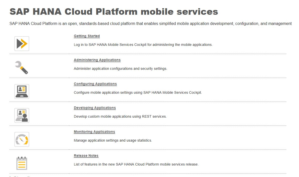 New SAP HANA Cloud Platform mobile services available for ramp-up