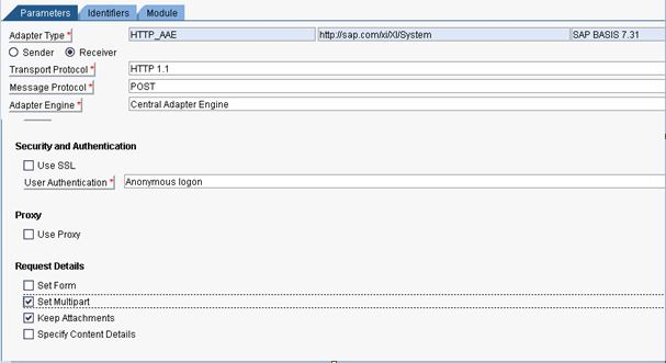 HTML MultiPart Form upload using HTTP Plain adapter with Java