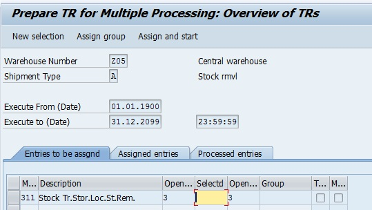 how to create picking request in sap
