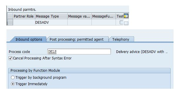Inbound Delivery : Automatic Creation from Outbound Delivery