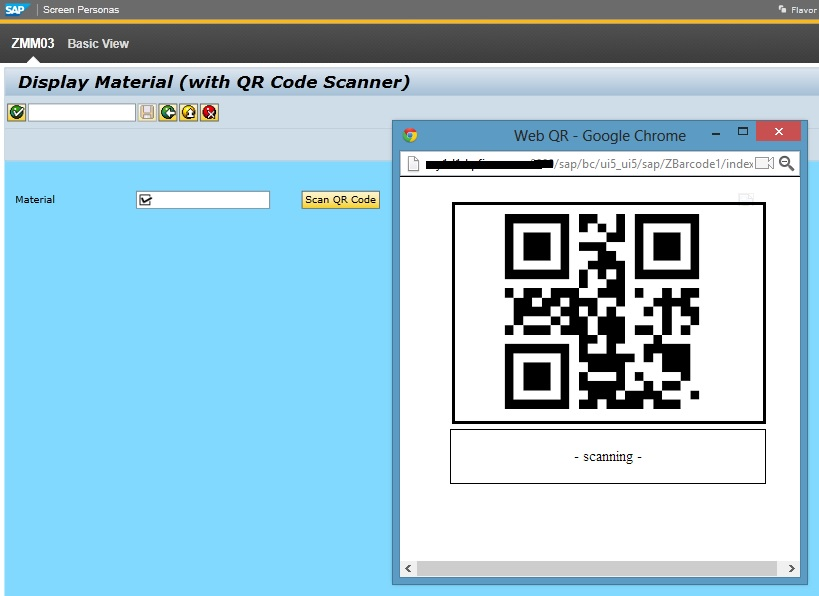 Create QR Barcode Scanner Function in SAP Screen Personas