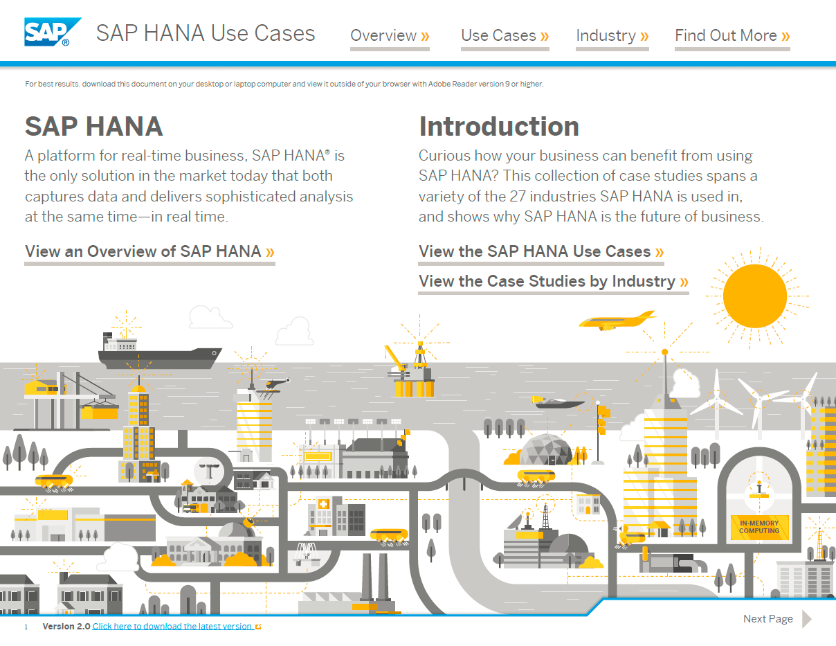 Simple way to discover where to start with sap hana sap blogs the sap hana use case map is designed as a self service interactive document to enable you to pooptronica