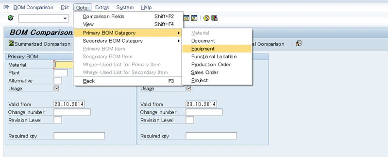 Compare BOMs with different categories  | SAP Blogs