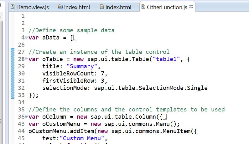Javascript file sample.