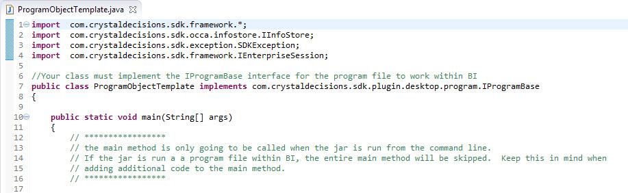 How to Create a Program File in BI4   SAP Blogs