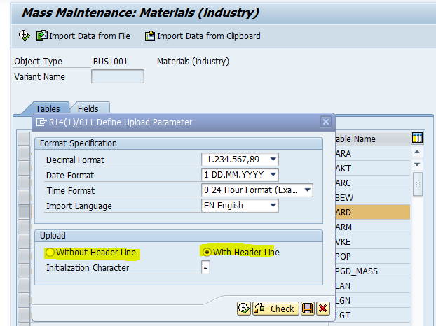 New upload function in MM17 and MASS transaction   SAP Blogs
