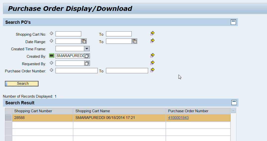 PO Form Display in SRM for Classical Scenario | SAP Blogs