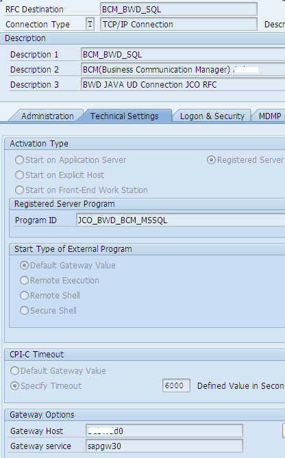 UD Connection – Integrating an external DB on BW ABAP 7 3