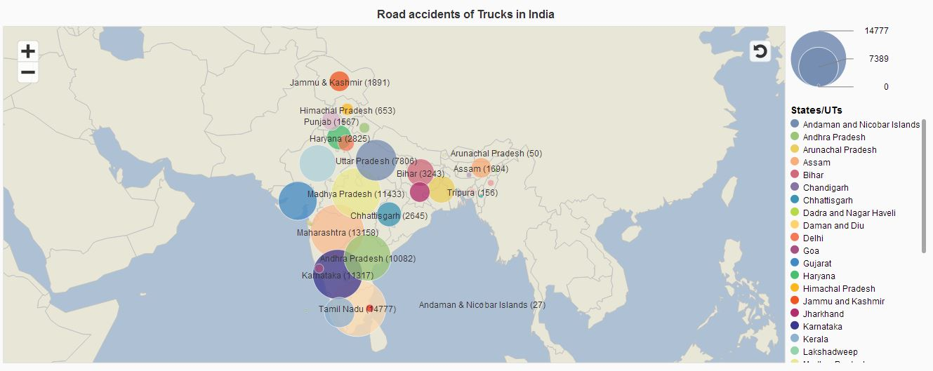Tuck accidents in India- Geomap.JPG