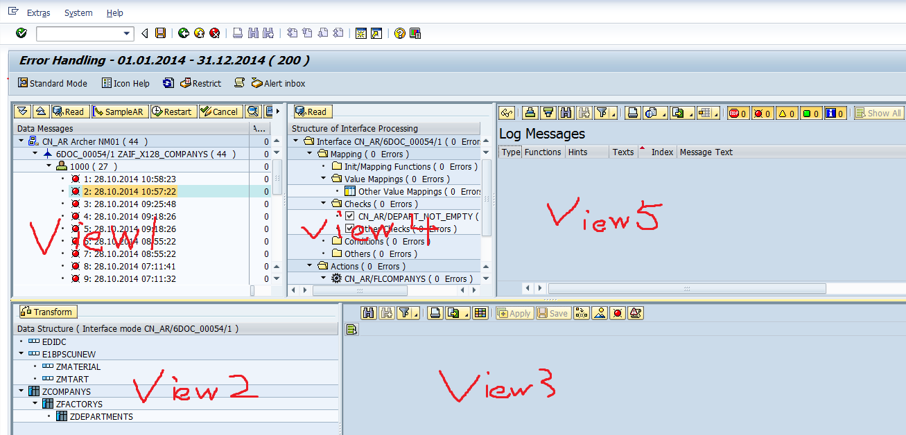 Enhancement Toolbar On View3 And View5 For Monitoring And Error